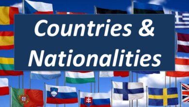 Photo of کشورها، ملیت ها و زبانها در انگلیسی